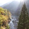 大谷橋から太陽を臨む
