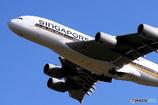 シンガポール航空機離陸