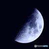 月齢6.9 宵月上弦 月面X 半月