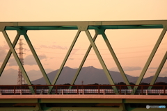 筑波山夕景