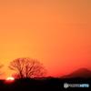 '16 大晦日の日没と富士