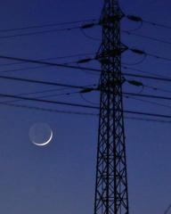 月齢2.1 三日月 地球照