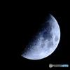 月齢7.4宵月上弦 月面X