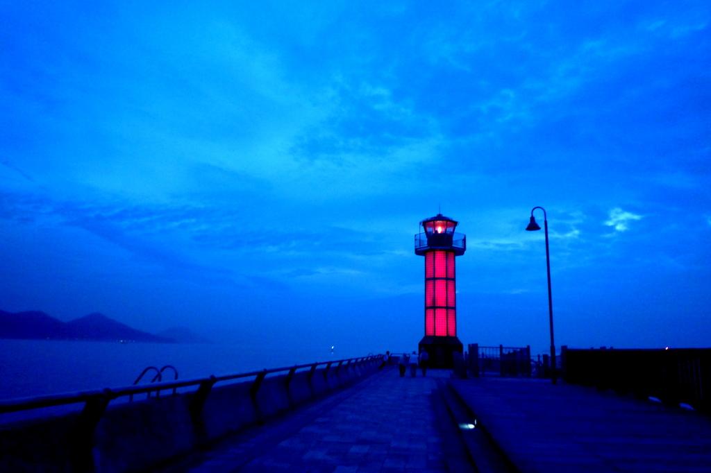 高松港夜明け前090713-03