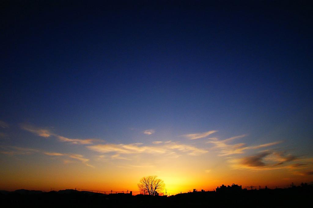 大地の夕暮れ