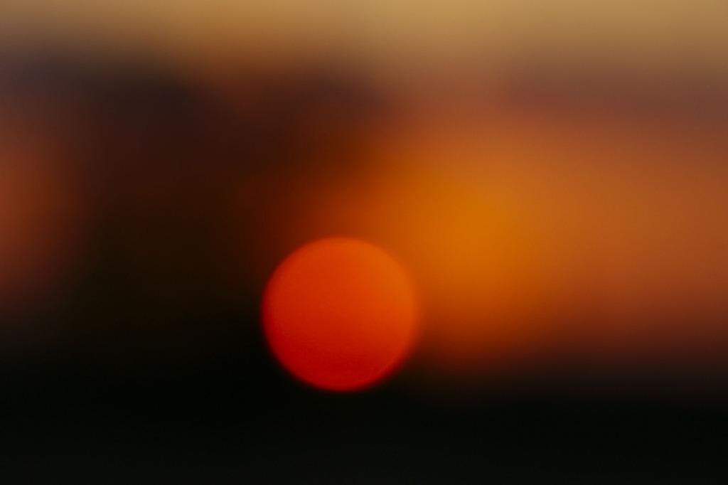 晩秋の夕陽
