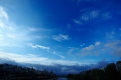 四条大橋から鴨川を臨む