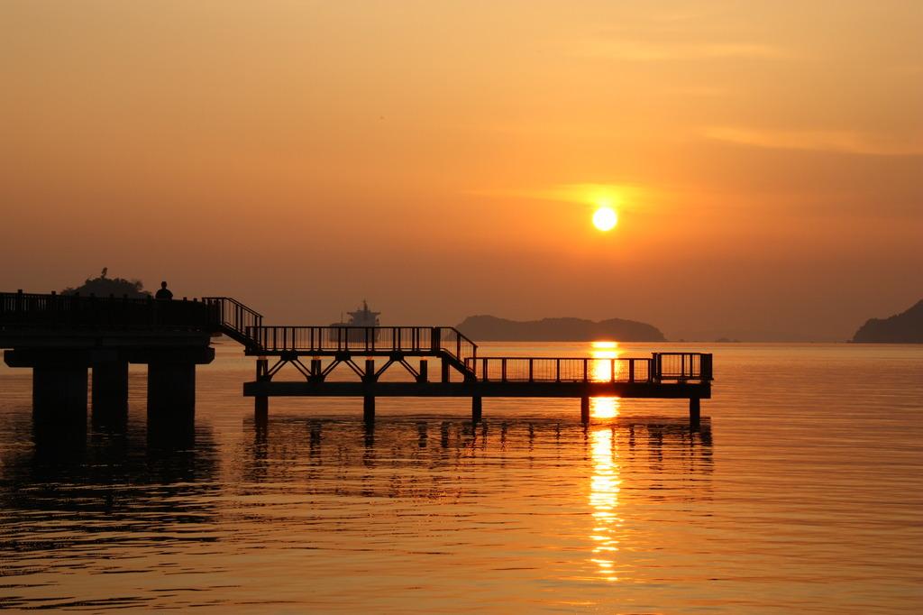 笠戸島~はなぐり海水浴場の夕日