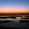 日の出前の岐波海岸