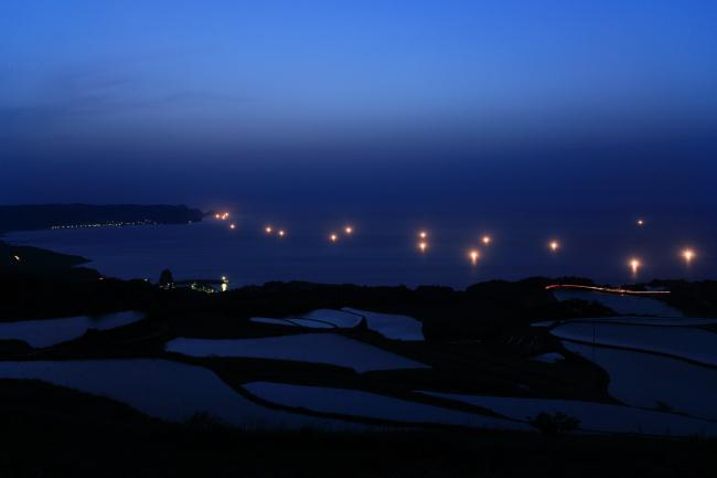 棚田の夜景