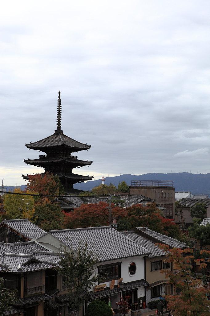 高台寺から望む八坂の塔
