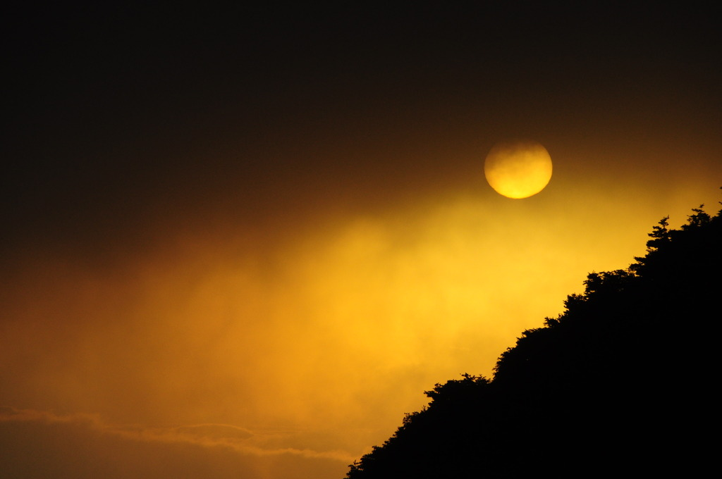 安達太良の朝日
