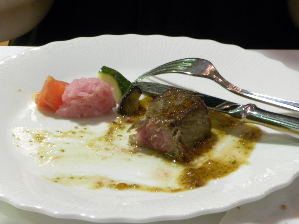 福島牛(食べかけ)