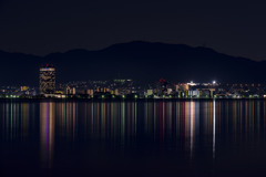対岸より望む -琵琶湖夜景-