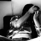 OLYMPUS E-620で撮影した人物(おしゃれなカフェにて。)の写真(画像)