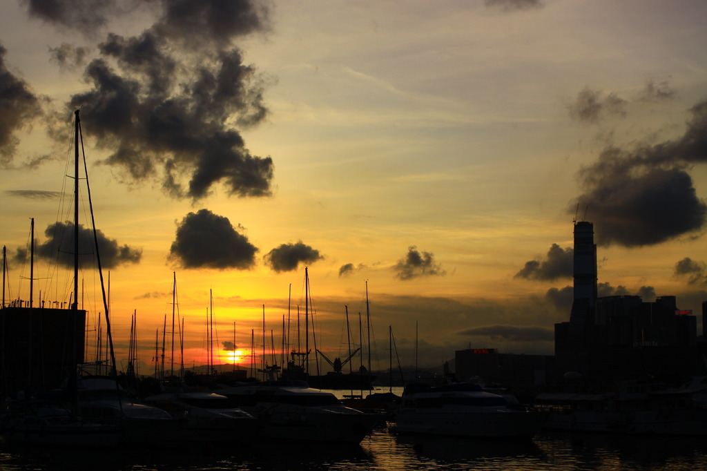 Sunset at Hong  Kong 3