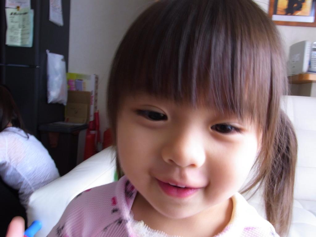 娘の微笑み