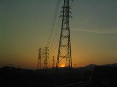ギリの夕日
