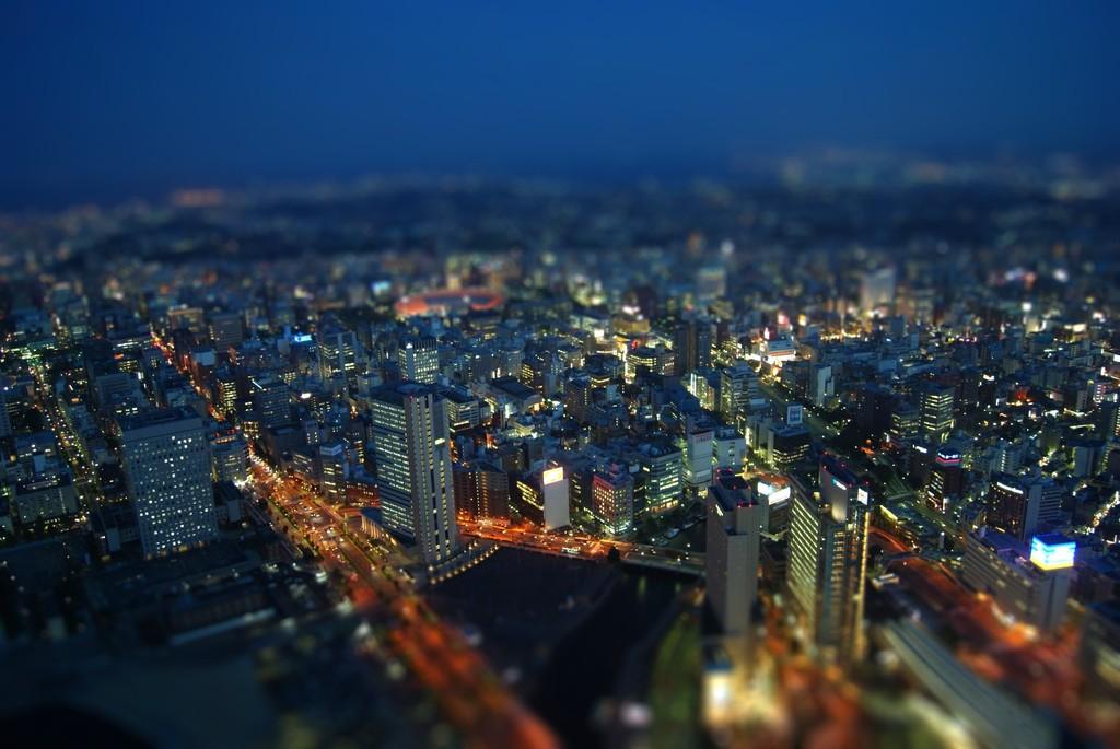 関内方面の夜景
