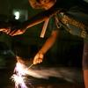 花火のバトンリレー
