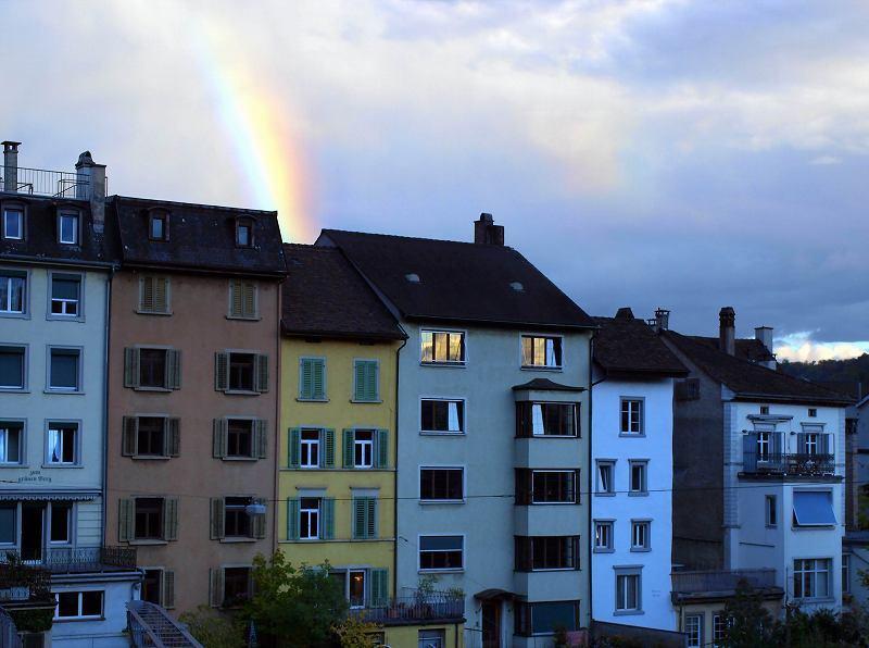 旧市街に架かる虹(シャウハウゼン)