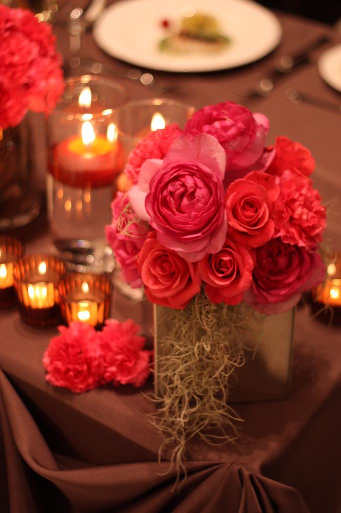 バラとキャンドル2。