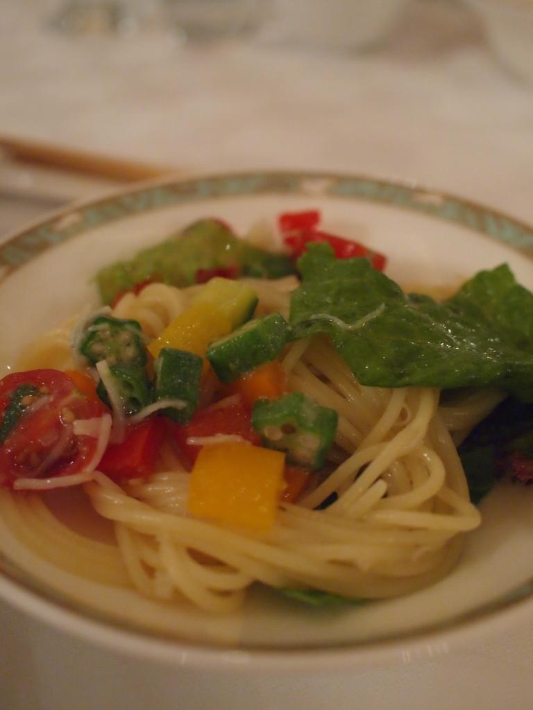 夏野菜パスタ
