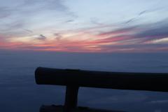 富士九合目の朝焼け