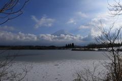 氷張る田貫湖