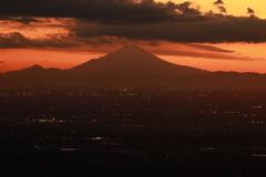 関東平野の夕暮れ