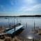 沼の漁港風景