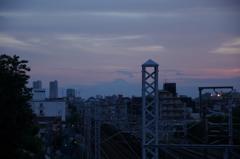 西馬込の夕日