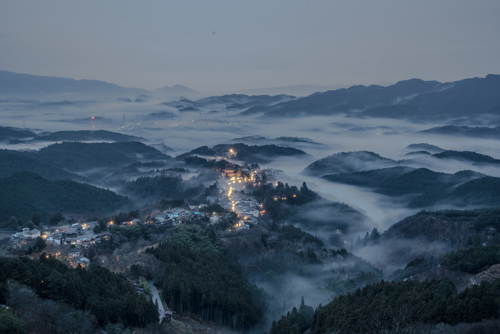 雲海の吉野山