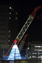 建設現場の富士山