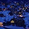 雪の夜の白川郷 t