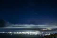 夜景と軌道