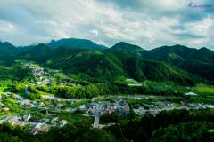 山形は山寺から見える風景
