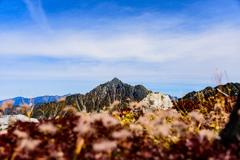 秋色の剱岳