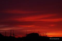 紅い夕焼け