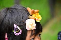 どんぐりの髪飾り-(パート2)