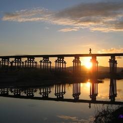CANON Canon IXY DIGITAL 500で撮影した(20130125_流れ橋の初日の出)の写真(画像)