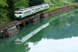 会津川口駅発 一番列車