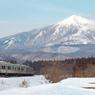 雪景色と磐越西線