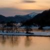 氷に写る影