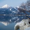 しぶき氷と磐梯山