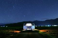 星空とドライブ