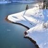冬の九頭竜湖
