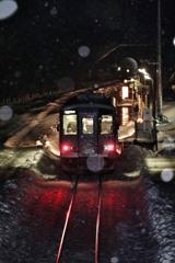 雪国の汽車
