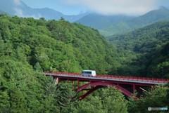 赤い橋(清里)