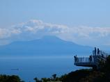 チキウ岬から駒ケ岳を望む